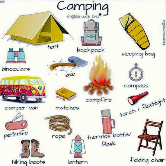 Camping Vocabulary In English Vocabulary Home