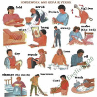 housework and repair verbs-200