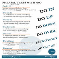 phrasal verbs with DO-200