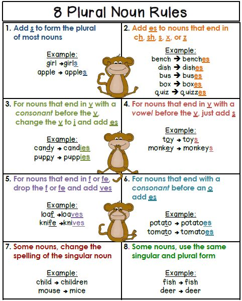Spelling Rule Exceptions for Plural Nouns: Words That End in Y ...