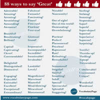 88 Ways to Say GREAT-200