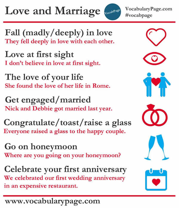 Collocations About LOVE And MARRIAGE