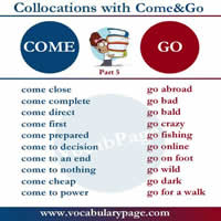Collocations with Come and Go-200
