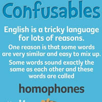 Confusable Words in English-200