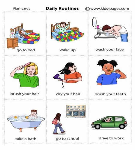 childs daily activities - 637×692
