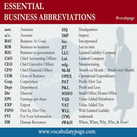 Essential Business Abbreviations-200