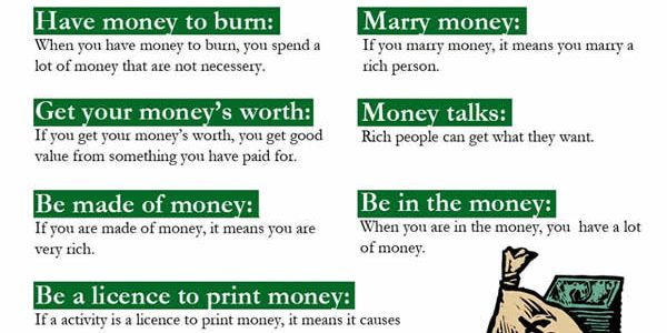 idioms-with-money