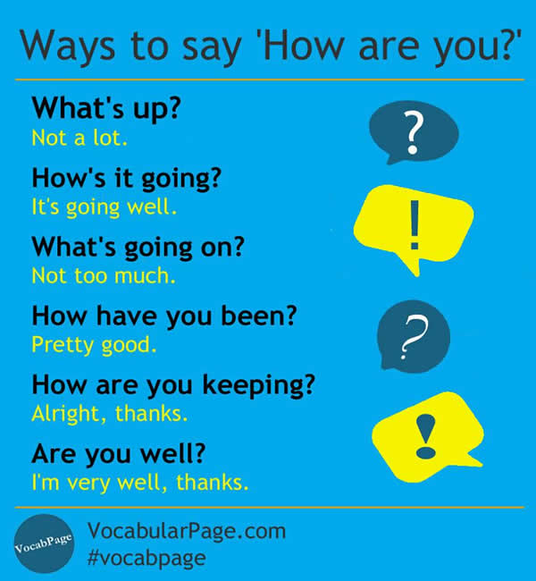 ways to say how are you