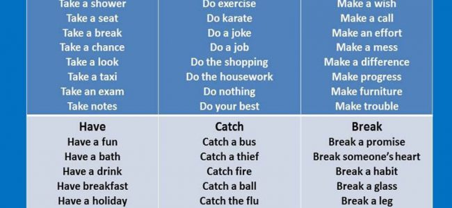 collocations-with-take-do-make-have-catch-and-break