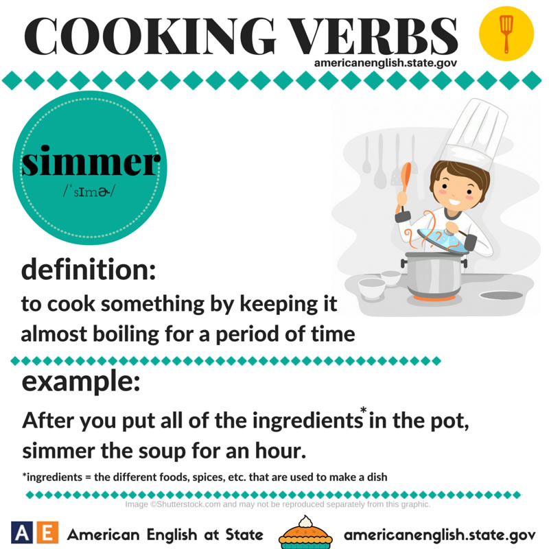 Cooking Verbs 1 Vocabulary Home