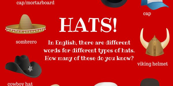 hats-vocabulary-english