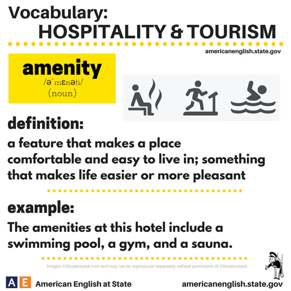 Hospitality And Tourism Vocabulary Vocabulary Home