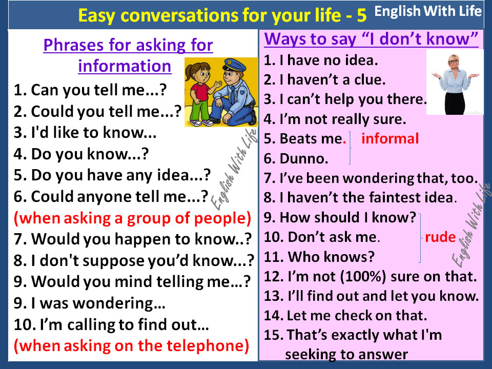 phrases-for-asking-for-information-ways-to-say-i-dont-know