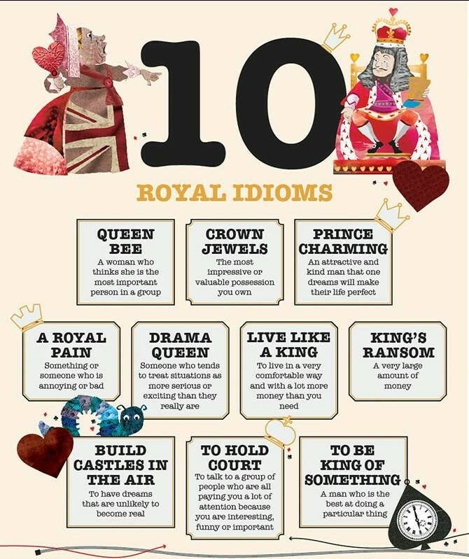 10 Royal Idioms Vocabulary Home