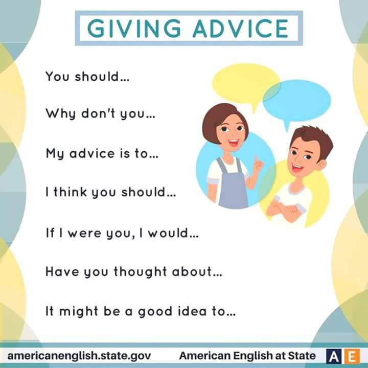 Giving Advice And Asking For Advice Vocabulary Home