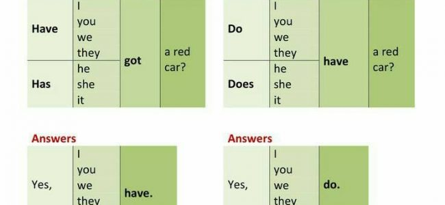 Have got and Have in English