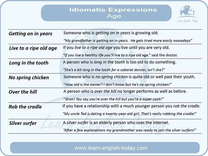 Idiomatic Expressions - AGE