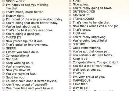 Many Different Ways to Say Very Good