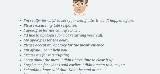 Other Ways To Say I'm Sorry