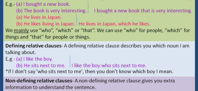 Relative Clauses - Detailed Expressions -1
