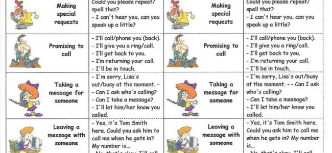 Telephone Language - Speaking