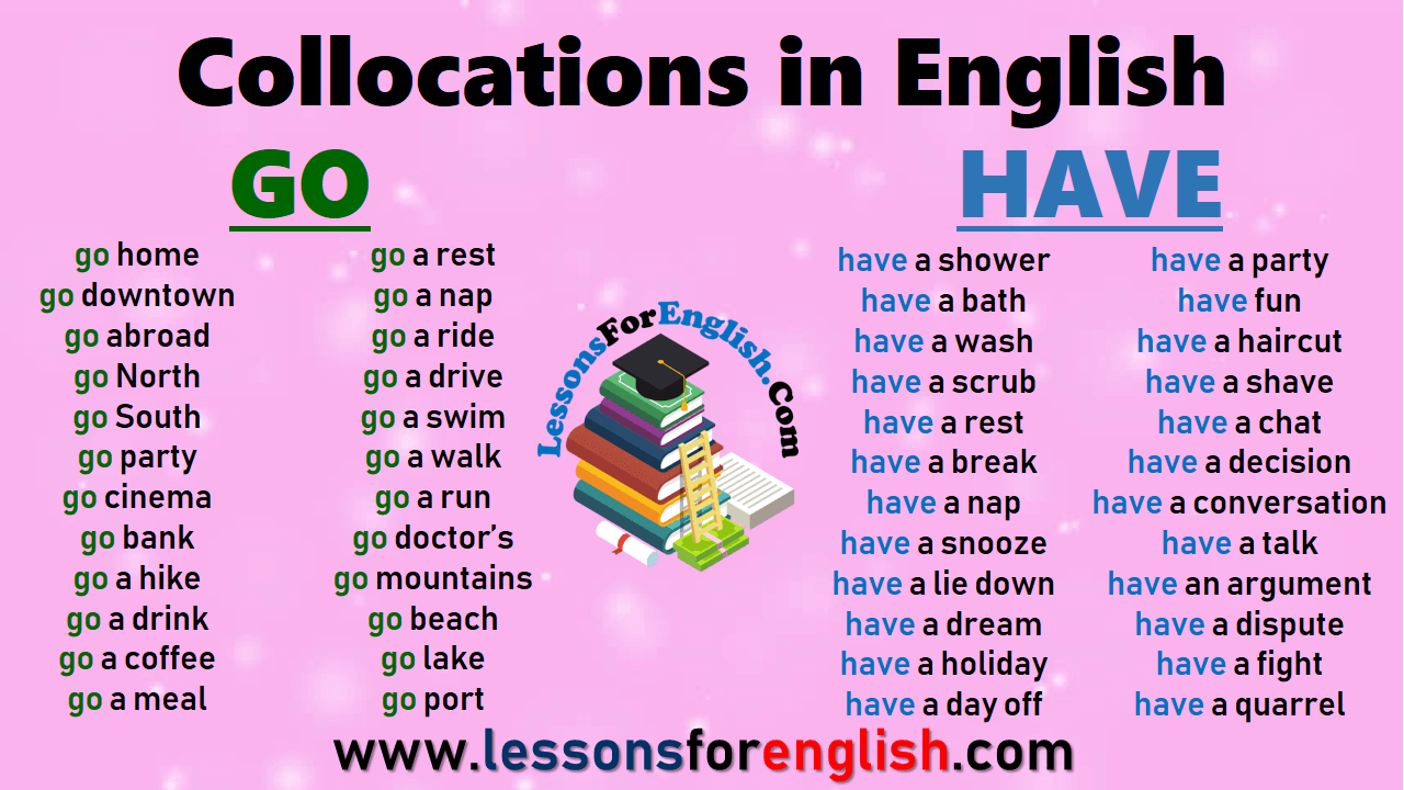 Collocations in English - GO and HAVE