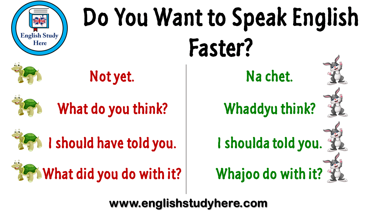 Do you want to speak english faster