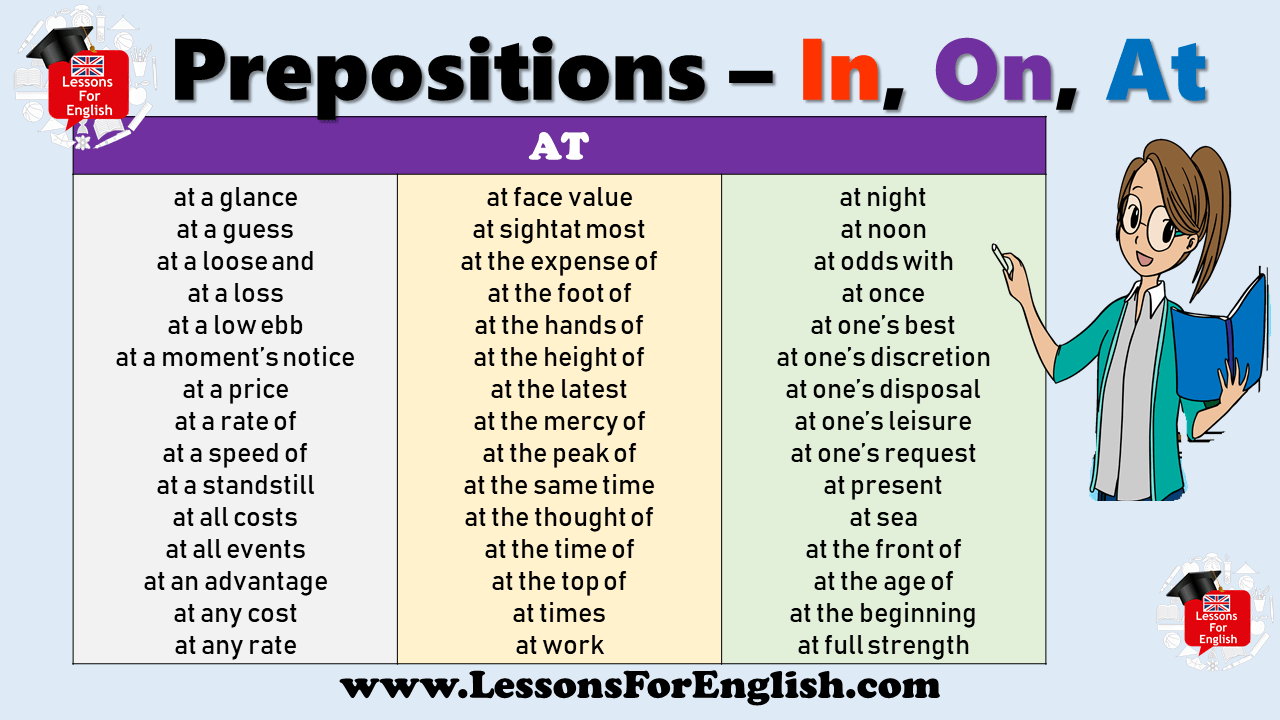 Prepositions At